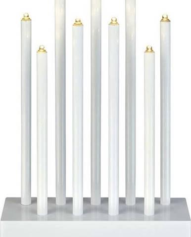 Bílý LED svícen Markslöjd Viik, výška 27 cm