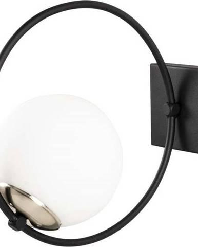 Černé kovové nástěnné svítidlo Opviqlights Aria