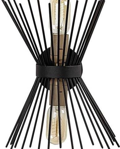 Černé kovové nástěnné svítidlo Opviqlights Glykera