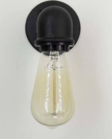 Černé nástěnné svítidlo Aplik Russno