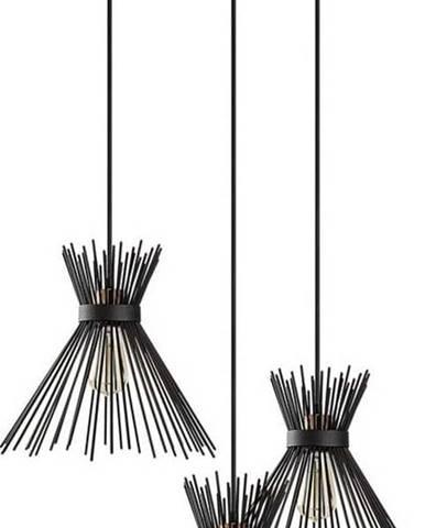 Černé závěsné svítidlo Opviq lights Kirpi