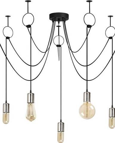 Černé závěsné svítidlo pro 7 žárovek Opviq lights Sirin
