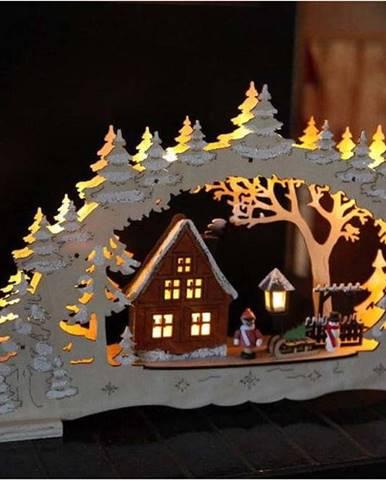 Hnědá světelná LED dekorace Star Trading Ulm, výška 27 cm