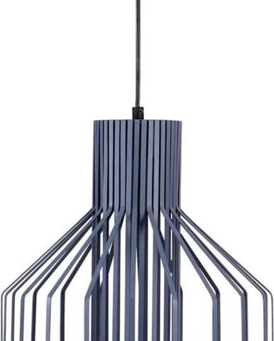 Modrošedé závěsné svítidlo z kovu sømcasa Canet, ø32cm