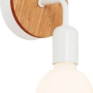Bílé nástěnné svítidlo s dřevěným detailem Homemania Decor Valetta