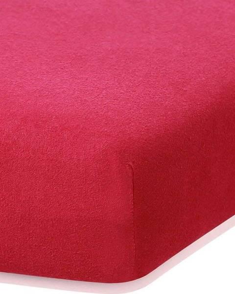 AmeliaHome Bordó červené elastické prostěradlo s vysokým podílem bavlny AmeliaHome Ruby, 100/120 x 200 cm