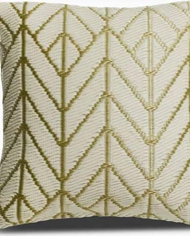 Béžovo-zlatý polštář z recyklovaného plastu Fab Hab Sydney, 51 x 51 cm