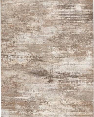 Hnědo-krémový koberec Elle Decoration Arty Trappes, 80 x 150 cm
