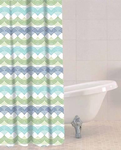 Sprchový závěs Sabichi Waves, 180x180cm