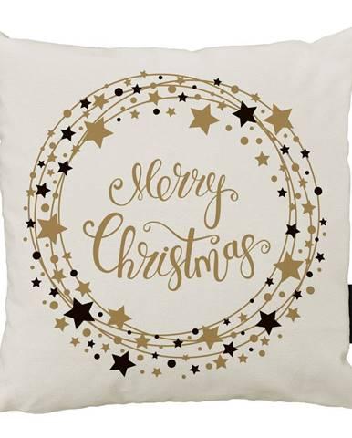 Vánoční polštář s bavlněným povlakem Butter Kings Stars Wreath,45x45cm
