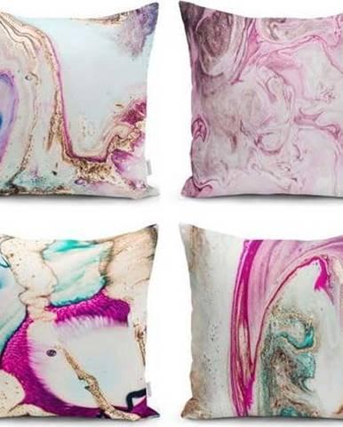 Sada 4 dekorativních povlaků na polštáře Minimalist Cushion Covers Watercolor,45x45cm