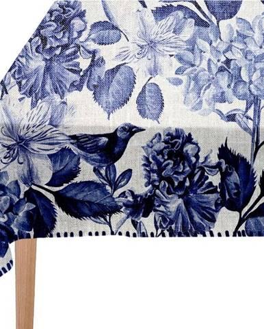 Ubrus Linen Couture Blue Birds, 140 x 140 cm