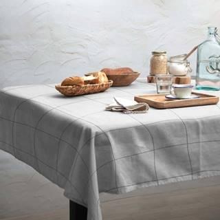 Ubrus Linen Couture Grey Lines, 140 x 200 cm