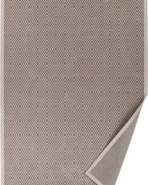 Narma Béžový vzorovaný oboustranný koberec Narma Kalana, 70 x 140cm