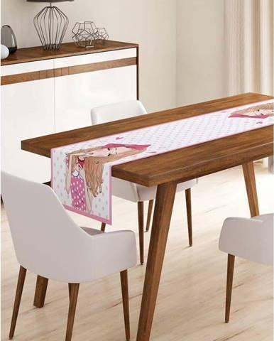 Běhoun na stůl z mikrovlákna Minimalist Cushion Covers Curly Cute Girl, 45x140cm