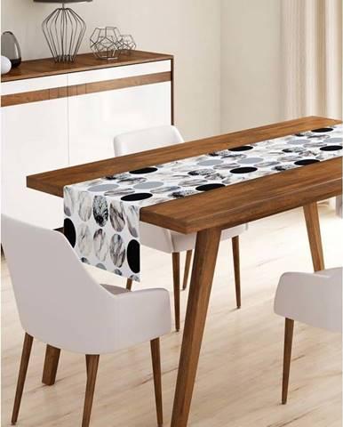 Běhoun na stůl z mikrovlákna Minimalist Cushion Covers Pearl, 45x140cm