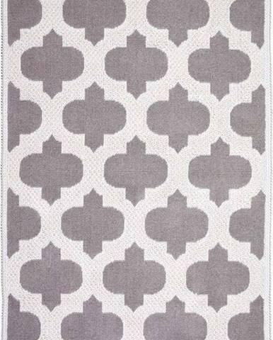 Béžový bavlněný koberec Vitaus Madalyon, 80x150cm