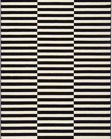 Černo-bílý koberec Hanse Home Gloria Panel, 80x150cm