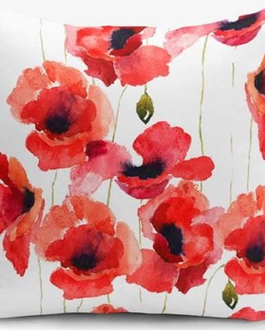 Povlak na polštář s příměsí bavlny Minimalist Cushion Covers Máky, 45 x 45 cm
