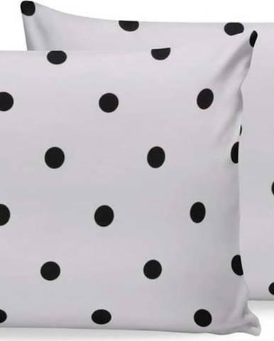 Sada 2 černo-bílých bavlněných povlaků na polštář Beverly Hills Polo Club, 50x70cm