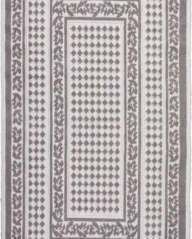 Šedobéžový bavlněný koberec Vitaus Olvia, 80x150cm