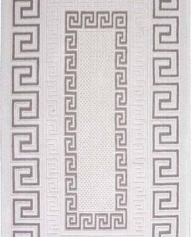 Šedobéžový bavlněný koberec Vitaus Versace, 100x150cm