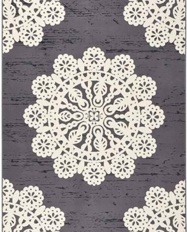 Šedý koberec Hanse Home Gloria Lace, 160 x 230 cm