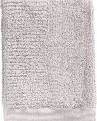 Světle šedá osuška ze 100% bavlny Zone Classic, 70x140cm