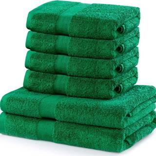 Set 2 bavlněných zelených osušek a 4 ručníků DecoKing Marina