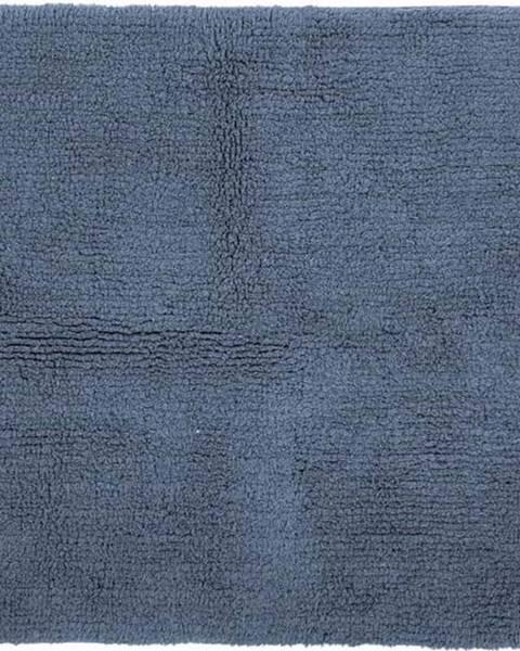 Tiseco Home Studio Modrá bavlněná koupelnová předložka Tiseco Home Studio Luca,60x60cm