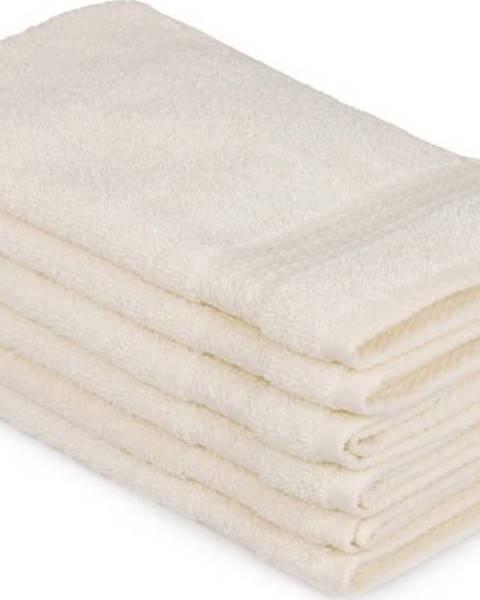 Hobby Sada 6 světle krémových bavlněných ručníků Madame Coco Lento Crema, 30 x 50 cm