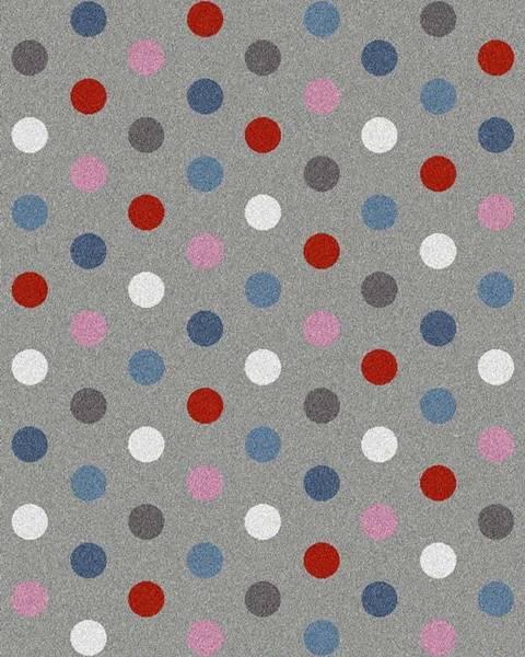 Universal Šedý koberec Universal Norge Dots, 57x110cm
