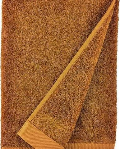Oranžová osuška z froté bavlny Södahl Clay, 140 x 70 cm