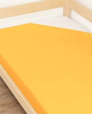 Oranžové prostěradlo z bavlny Benlemi Jersey,90x190cm