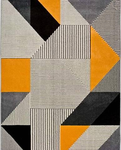 Oranžovo-šedý koberec Universal Gladys Duro, 60x120cm