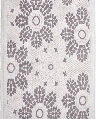 Šedobéžový bavlněný koberec Vitaus Papatya, 100x150cm