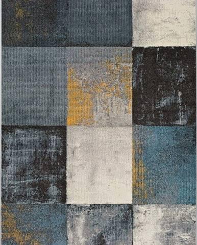 Tmavě šedý koberec Universal Adra Azulo, 133 x 190 cm