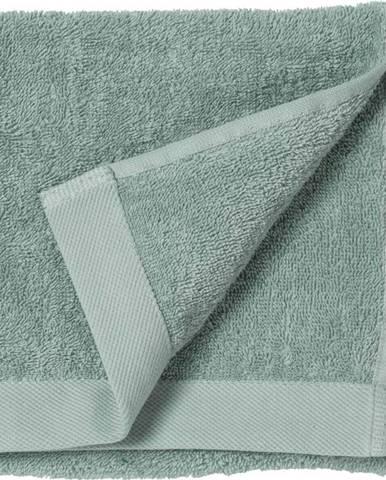 Zelený ručník z froté bavlny Södahl Leaf, 60 x 40 cm