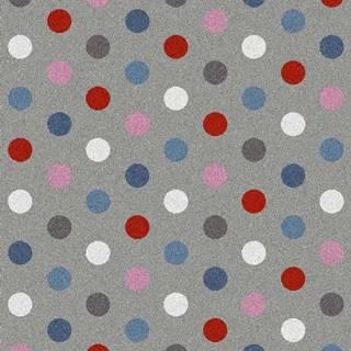 Šedý koberec Universal Norge Dots, 57x110cm