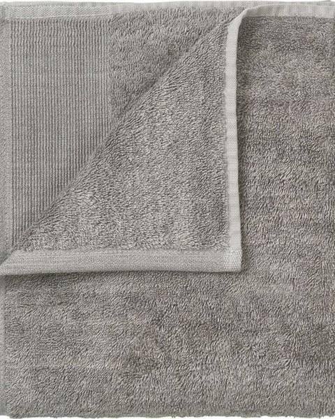 Blomus Sada 4 šedých bavlněných ručníků Blomus, 30x30cm