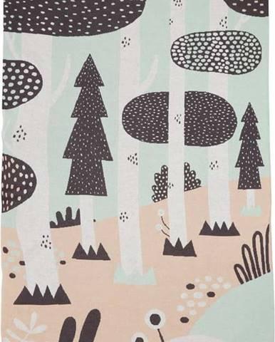 Dětský bavlněný přehoz přes postel Södahl Magic Forest,100x150cm