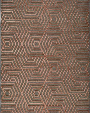Červený koberec Universal Lana, 67 x 105 cm