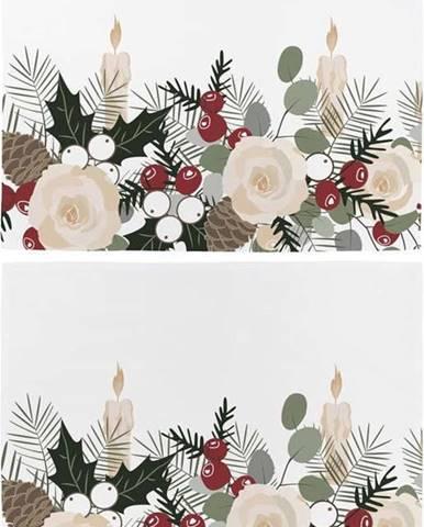 Sada 2 bavlněných vánočních ubrousků Butter Kings Fir Branches,45x35cm