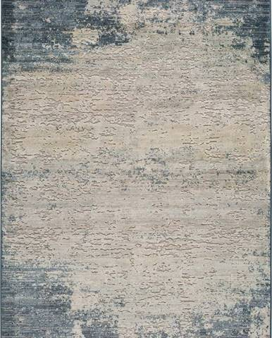 Šedo-modrý koberec Universal Farashe Abstract, 140 x 200 cm