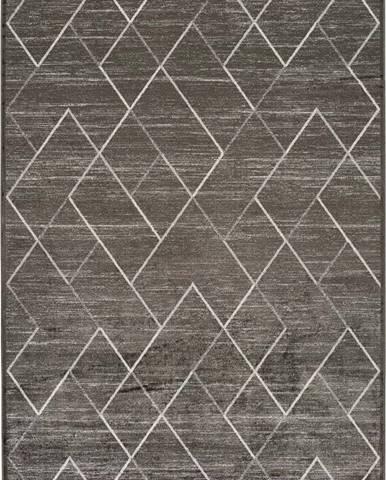 Šedý koberec z viskózy Universal Belga, 140 x 200 cm