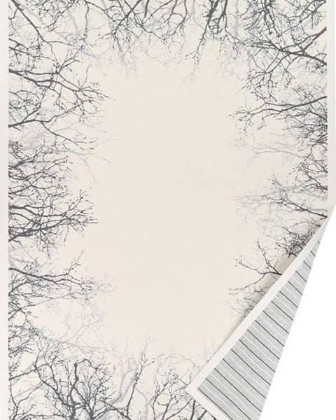 Narma Bílý vzorovaný oboustranný koberec Narma Puise, 140 x 200cm