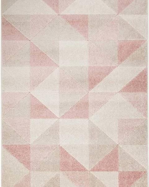 Flair Rugs Růžový koberec Flair Rugs Urban Triangle, 100 x 150 cm