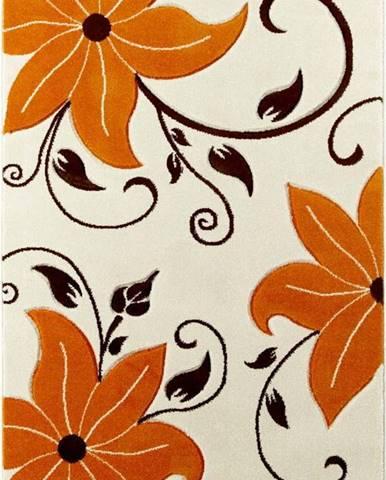 Béžovo-oranžový koberec Think Rugs Verona, 60x120cm