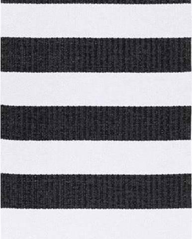 Černo-bílý koberec vhodný do exteriéru Narma Birkas, 70x100cm