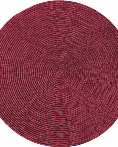Červené kulaté prostírání Zic Zac Round Chambray, ø38cm